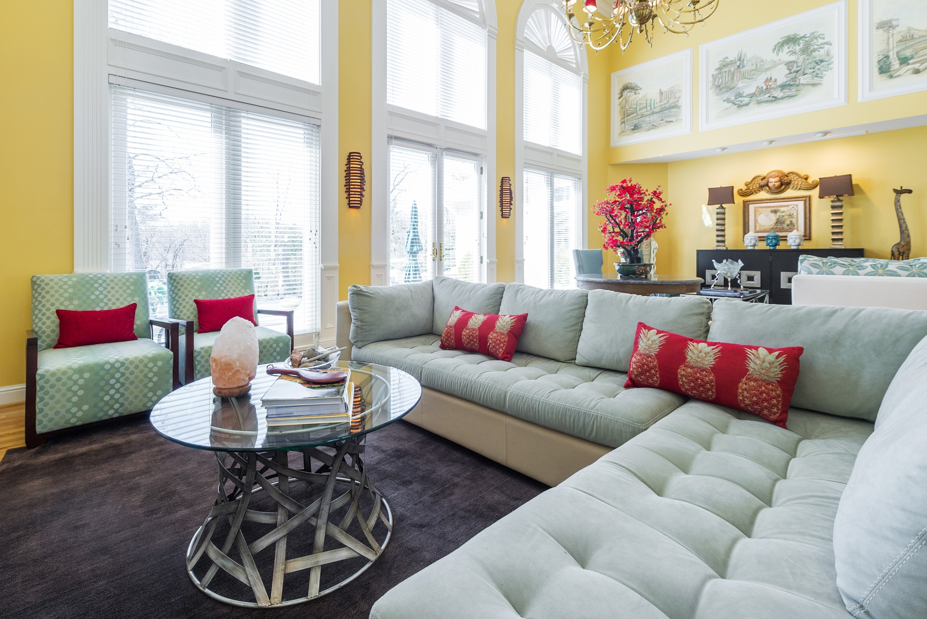 This Architecturally Traditional Home Was Transformed Into An Asian  Showplace. The Former Living And Dining Room Space Was Turned Into An  Entertainment Area ...