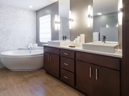 Contemporary Remodel Master Bathroom